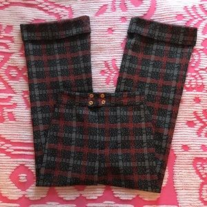 1970s Plaid High Waisted Bell Bottoms
